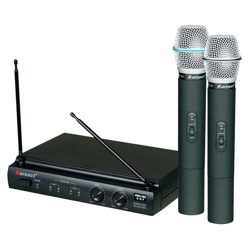 Microfone Karsect 302 Duplo